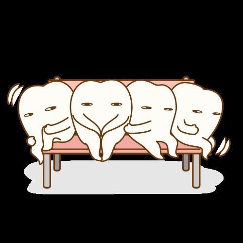徐々にきれいに並びだしている歯達