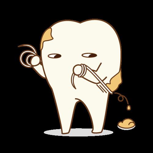 ブラシが届かない歯の間もフロスならきれいに取れますよ!