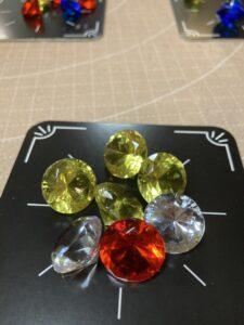 キラキラした宝石が可愛いバッティングというゲーム
